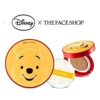 韓國THE FACE SHOP 迪士尼聯名CC保濕降溫感氣墊粉餅(維尼)氣墊粉餅