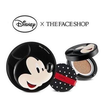 韓國THE FACE SHOP 迪士尼聯名BB完美修容彈力感氣墊粉餅米奇氣墊粉餅