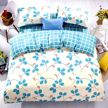 【情定巴黎】蒂芙尼亞 100%精梳純棉雙人四件式床包被套組-獨立筒適用