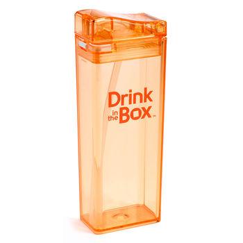 【Drink in the box】Tritan兒童運動吸管杯(大)-果凍橘