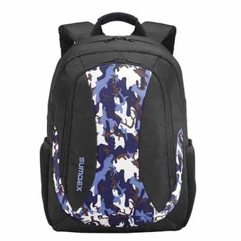 【SUMDEX】PON-393BCX-SAC 15吋 個性藍迷彩筆電後背包
