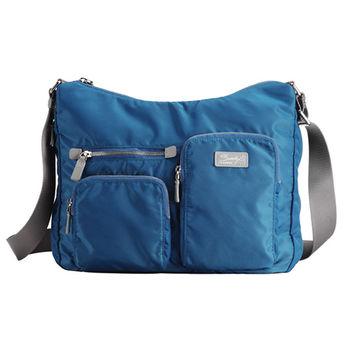 【SUMDEX】NOD-717IB 可擴張側肩iPad包 藍