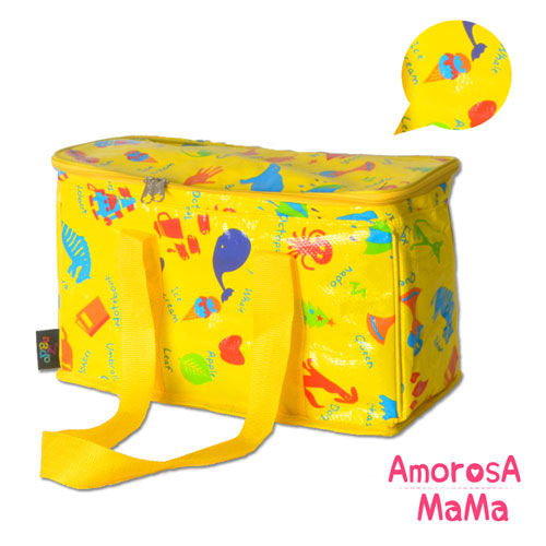【Amorosa Mama】多用手提式保冷保溫袋/野餐包/保鮮袋 (英文單字)