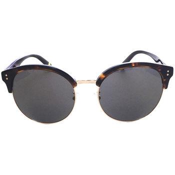 【JILL STUART 太陽眼鏡】韓系復古圓框/大理石琥珀棕-黑棕腳-灰鏡面(#JS58005-C06A)