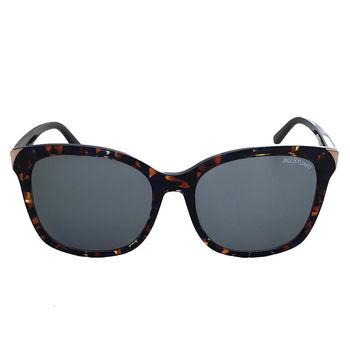 【JILL STUART 太陽眼鏡】韓系大框金屬邊-大理石琥珀/灰鏡面(#JS55026 C03A)