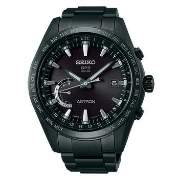 【SEIKO 精工】ASTRON GPS系列衛星定位太陽能鈦金屬腕錶-黑(8X22-0AG0SD/SSE089J1)