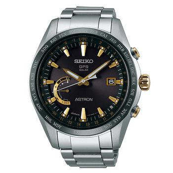 【SEIKO 精工】ASTRON GPS系列衛星定位太陽能鈦金屬腕錶-金(8X22-0AG0K/SSE087J1)