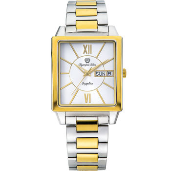 Olympia Star 奧林比亞之星-經典時尚羅馬方型腕錶-雙色/33mm  58065MSK