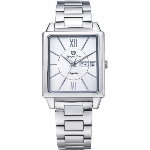 Olympia Star 奧林比亞之星-經典時尚羅馬方型腕錶-銀/33mm  58065MS