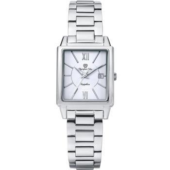 Olympia Star 奧林比亞之星-經典時尚羅馬方型腕錶-銀/25mm  58065LS