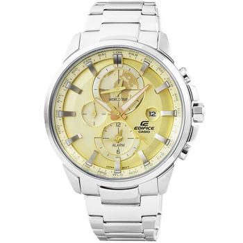 CASIO 卡西歐EDIFICE大錶徑三眼計時錶-金 / ETD-310D-9A