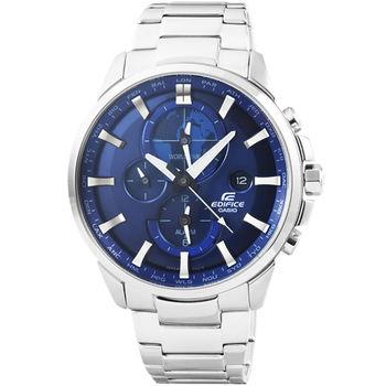CASIO 卡西歐EDIFICE大錶徑三眼計時錶-藍 / ETD-310D-2A
