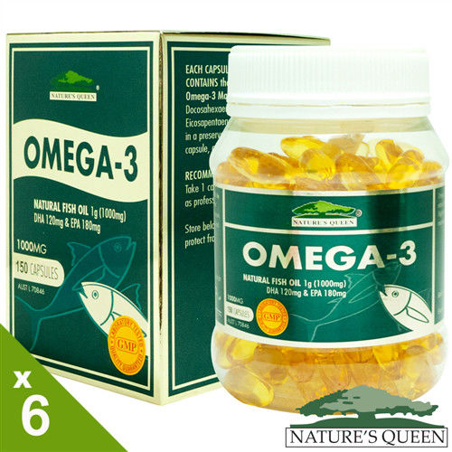 澳洲Nature's Queen深海魚油6入組(150顆x6瓶)