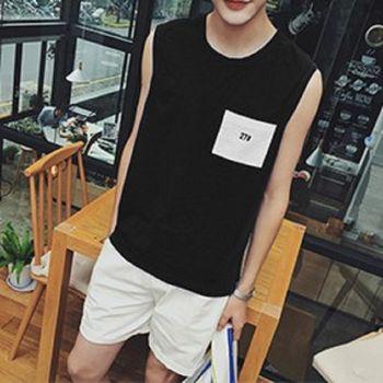 【協貿國際】夏季無袖T卹韓版寬鬆時尚男士背心單件