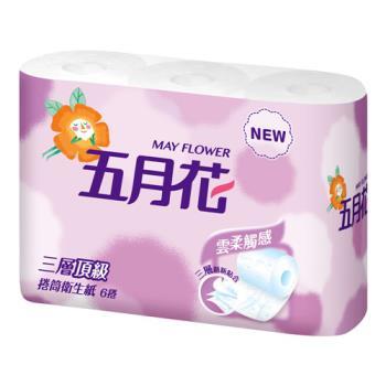 【五月花】三層捲筒衛生紙200張*6捲*16袋/箱