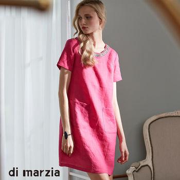 di marzia時尚歐版水鑽麻紗洋裝