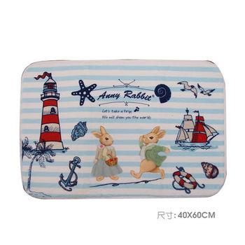 【安妮兔】珊瑚絨趣味地毯 087Y-127(買一送一)