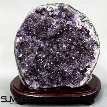 【SUMMER寶石】5A級烏拉圭紫晶鎮《3.4kg》(頂級深紫色 8A-24)