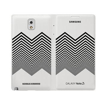 SAMSUNG GALAXY NOTE3 原廠 山型臂章 時尚皮套(盒裝-台灣代理商)