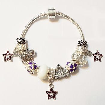 ArFFi 艾菲 夢想串珠紫三小星手鍊手環