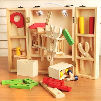 樂兒學 兒童手提工具箱拆裝玩具木製學習積木