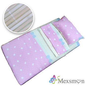 【Mexsmon美思夢】開學季懶人包三件組3×6尺(床墊+枕頭+涼被)-心心相印