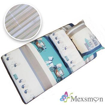 【Mexsmon美思夢】開學季懶人包三件組3×6尺(床墊+枕頭+涼被)-英國馬車