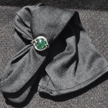 【品澐珠寶】現貨 A貨天然老坑滿綠翡翠戒指
