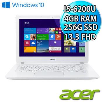 Acer 宏碁 V3-372-556K 13吋FHD i5-6200U 256G SSD 新款輕薄筆電 純淨白