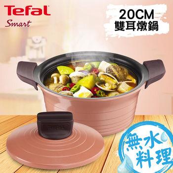 【Tefal法國特福】御釜鑄造-20CM雙耳燉鍋(附鍋蓋及矽膠隔熱手套)