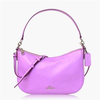 COACH 多種背法 皮革 / 肩背 / 斜背兩用包(小款)_粉紫