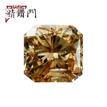 【精鑽門】方形黃棕彩鑽 0.30克拉 Fancy Deep Yellowish Brown / SI2(福利品)