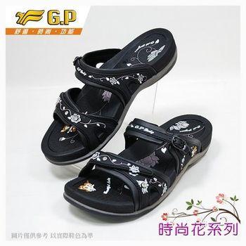 【G.P 花漾涼拖系列】G6875W-10 黑色(SIZE:36-40 共三色)