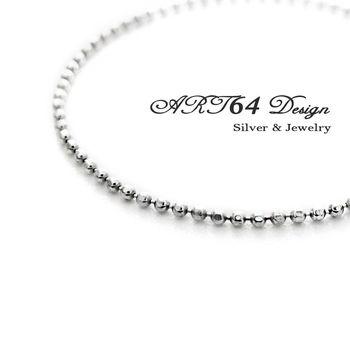 閃珠稜角鍊(1.5)-16吋銀鍊-925純銀項鍊