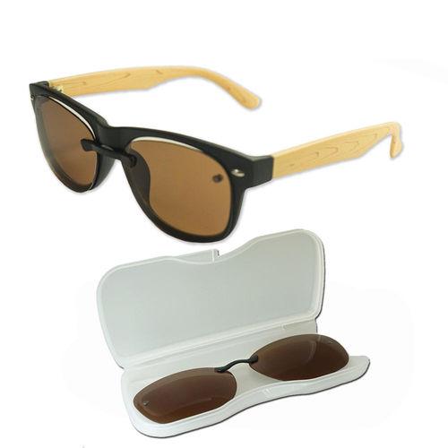 APOLLO-~日本偏光鏡+濾藍光眼鏡-木紋米/圓框