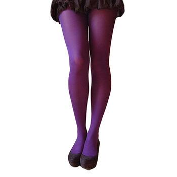【摩達客】英國進口【Pretty Polly】60D丹尼彩色彈性褲襪(深紫色)