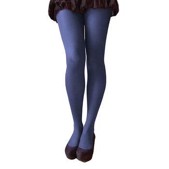 【摩達客】英國進口【Pretty Polly】40D丹尼彩色彈性褲襪(深藍黑色)(兩入組)