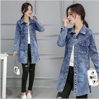 (現貨+預購 RN-girls)-韓版秋季新款名媛氣質收腰顯瘦經典牛仔外套