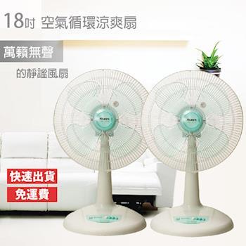 【南亞牌】台灣製造安靜型18吋省電強力工業電風扇EF-1881 x2入