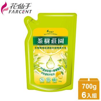 【茶樹莊園】檸檬超濃縮洗碗精補充包6入超值組