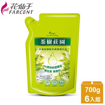 【茶樹莊園】茶樹超濃縮洗碗精補充包6入超值組