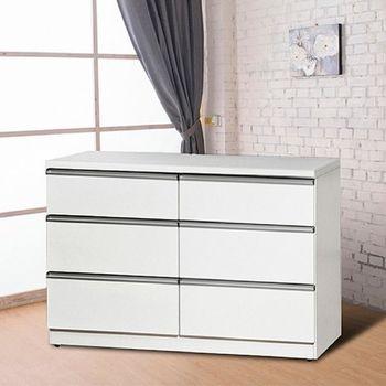 Bernice-愛比4尺白色六斗櫃