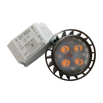 【SH】7W 12V MR16杯燈 黃光含4LED專用變壓器(160416)