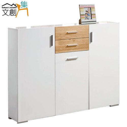 【文創集】美樂 4尺實木鞋櫃/玄關櫃