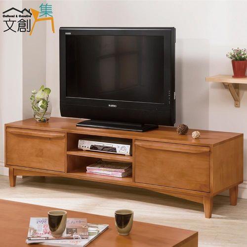 【文創集】薩亞 柚木紋5.7尺實木多功能電視櫃/收納櫃
