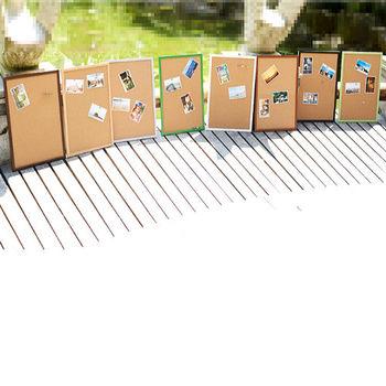 [協貿國際]仿實木掛式軟木板家居照片牆留言板圖釘板40*60便簽板記事宣傳板一個價