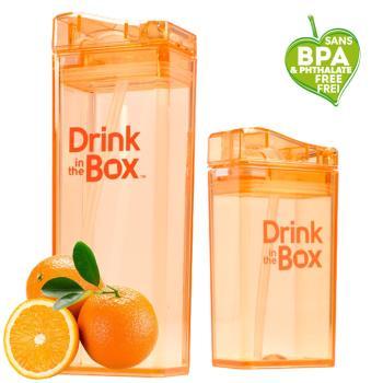 【Drink in the box】Tritan兒童運動吸管親子杯-果凍橘