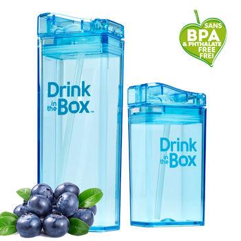 【Drink in the box】Tritan兒童運動吸管親子杯-果凍藍