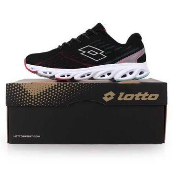【LOTTO】女輕量氣動跑鞋-慢跑 路跑 黑桃銀