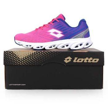 【LOTTO】女輕量氣動跑鞋-慢跑 路跑 粉紅藍